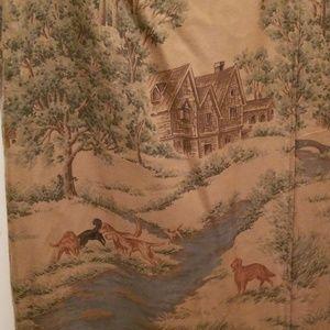 Ralph Lauren Scenic pattern wrap lined skirt